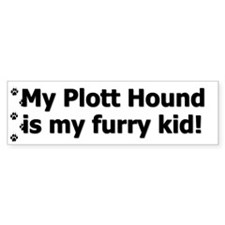 Plott Hound Furry Kid Bumper Bumper Bumper Sticker