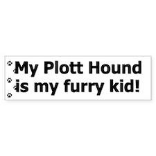 Plott Hound Furry Kid Bumper Car Sticker