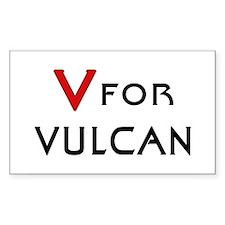 V for Vulcan Decal