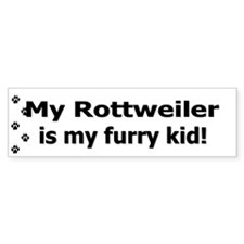 Rottweiler Furry Kid Bumper Bumper Sticker