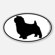 Norfolk Terrier SILHOUETTE Oval Decal