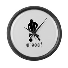 Soccer 5 Large Wall Clock