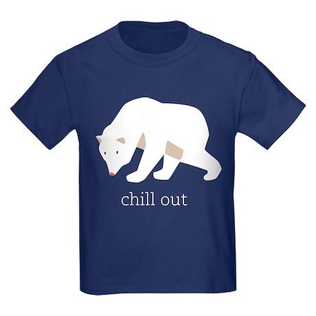 Chill Out Polar Bear Kids Dark T-Shirt