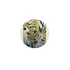 Chinese Tiger Mini Button
