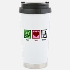 Peace Love Theatre Stainless Steel Travel Mug