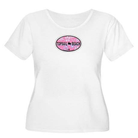 Topsail Beach NC - Oval Design Women's Plus Size S