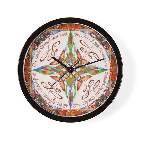 The Road Not Taken - Robert F Wall Clock