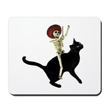 Skeleton on Cat Mousepad
