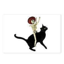 Skeleton on Cat Postcards (Package of 8)