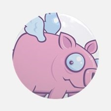 If Pigs Could Fly Ornament (Round)