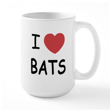 I heart bats Large Mug