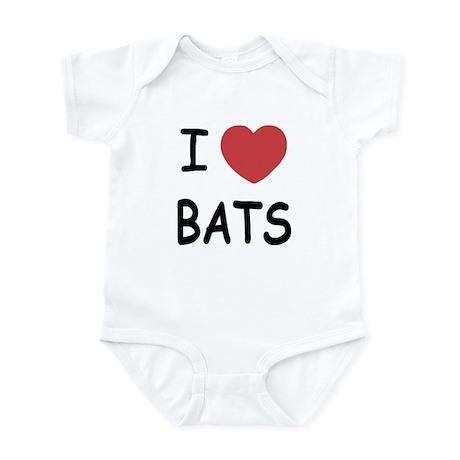 I heart bats Infant Bodysuit