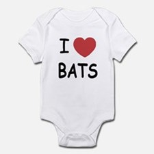 I heart bats Infant Bodysuit