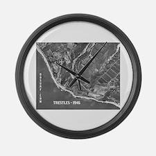 Trestles 1946 Surf Spots Large Wall Clock