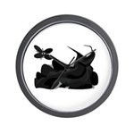 Shades of Black Dress Wall Clock