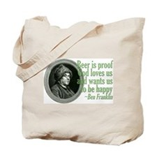 Beer, Love, God Tote Bag