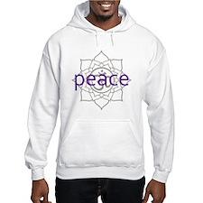peace Om Lotus Blossom Hoodie