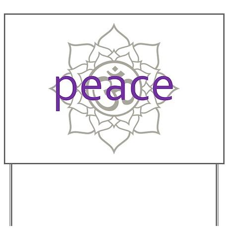 peace Om Lotus Blossom Yard Sign