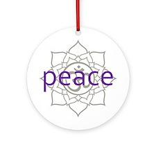 peace Om Lotus Blossom Ornament (Round)
