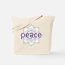 peace Om Lotus Blossom Tote Bag