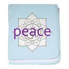 peace Om Lotus Blossom Infant Blanket