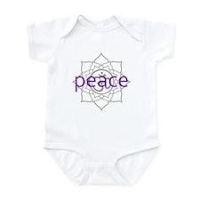 peace Om Lotus Blossom Infant Bodysuit