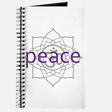 peace Om Lotus Blossom Journal