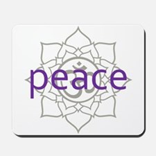 peace Om Lotus Blossom Mousepad