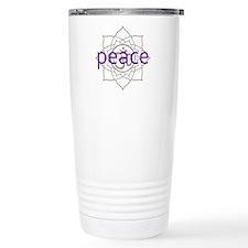 peace Om Lotus Blossom Travel Mug