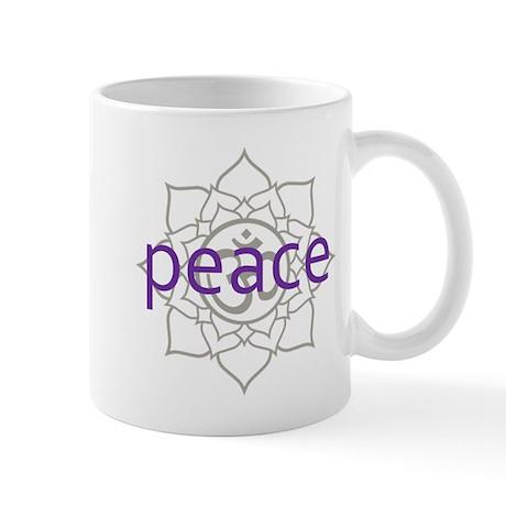peace Om Lotus Blossom Mug
