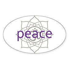 peace Om Lotus Blossom Decal