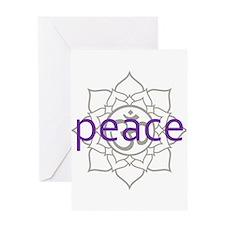 peace Om Lotus Blossom Greeting Card
