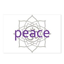 peace Om Lotus Blossom Postcards (Package of 8)