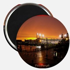 """Pittsburgh Sunset 2.25"""" Magnet (100 pack)"""