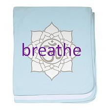 breathe Om Lotus Blossom Infant Blanket