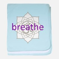 breathe Om Lotus Blossom Infant Blanket