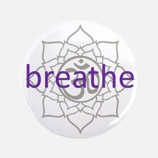 """breathe Om Lotus Blossom 3.5"""" Button (100 pack)"""