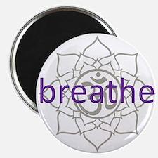 breathe Om Lotus Blossom Magnet