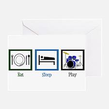 Eat Sleep Drums Greeting Card
