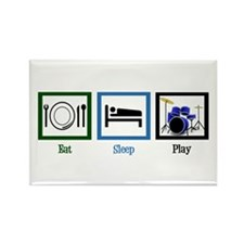 Eat Sleep Drums Rectangle Magnet