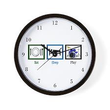 Eat Sleep Drums Wall Clock