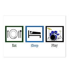 Eat Sleep Drums Postcards (Package of 8)