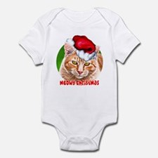 Meowy Christmas Tabby Infant Bodysuit