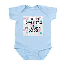 NANA LOVES ME SO DOES PAPA Infant Creeper