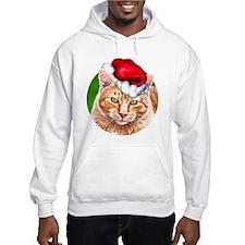 Meowy Christmas Tabby Hoodie