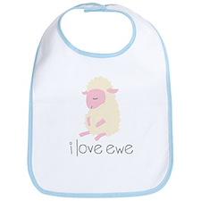 I Love Ewe Sheep Bib