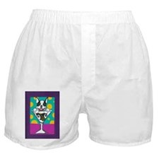 Boston Terrier Martini Boxer Shorts
