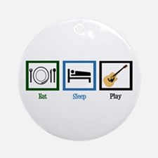 Eat Sleep Guitar Ornament (Round)