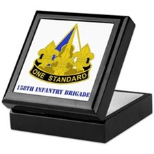 DUI - 158th Infantry Bde with Text Keepsake Box