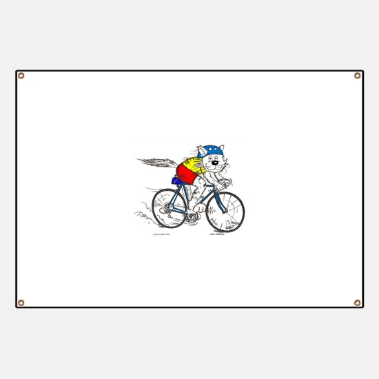 Bicycle Cat Banner
